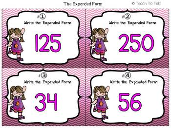 THE EXPANDED FORM OF WHOLE NUMBERS FREEBIE {PLACE VALUE}