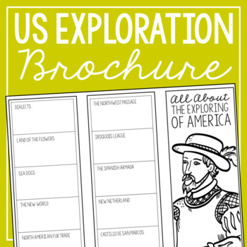 THE EXPLORATION OF AMERICA Research Brochure Template, American History Project