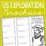THE EXPLORATION OF AMERICA Research Brochure Template, Ame