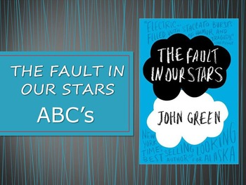 THE FAULT IN OUR STARS - ABCs of the Novel