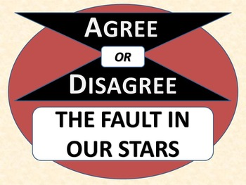 THE FAULT IN OUR STARS - Agree or Disagree Pre-reading Activity