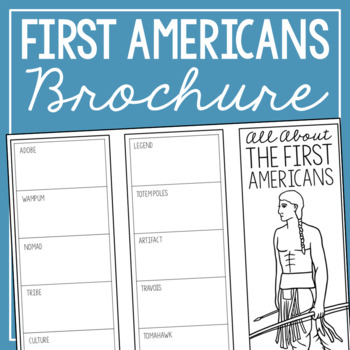 THE FIRST AMERICANS Research Brochure Template, American History Project