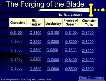 THE FORGING OF THE BLADE!  by R. L. Lafevers  An Introduction to High Fantasy!