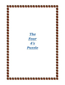 THE FOUR 4'S PUZZLE