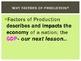 THE FOUR FACTORS OF PRODUCTION