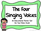 THE FOUR SINGING VOICES POSTER SET FOR YOUR CHORUS/CHOIR O