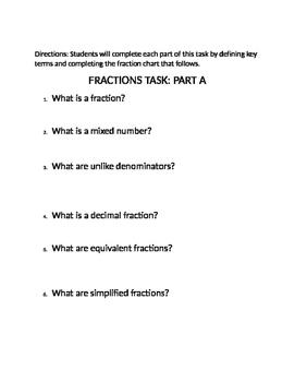 THE FRACTION TASK