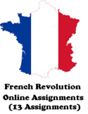THE FRENCH REVOLUTION ONLINE  ASSIGNMENT BUNDLE (MICROSOFT WORD)