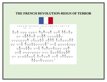 THE FRENCH REVOLUTION-REIGN OF TERROR CRYPTOGRAM
