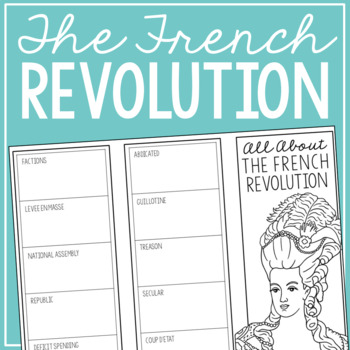 THE FRENCH REVOLUTION Research Brochure Template, World History Project