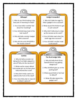 THE GADGET WAR by Betsy Duffey - Discussion Cards