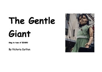 THE GENTLE GIANT- book and song
