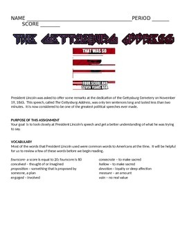THE GETTYSBURG ADDRESS ANALYSIS