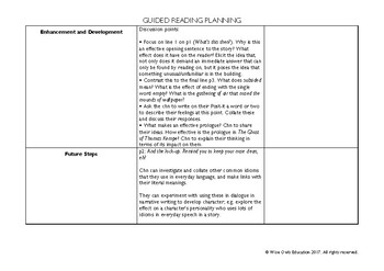 THE GHOST OF THOMAS KEMPE: COMPLETE GUIDED READING CLOSE READING UNIT OF WORK