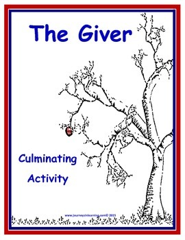 THE GIVER Culminating Activity