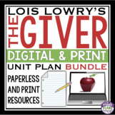 THE GIVER DIGITAL & PRINT UNIT PLAN BUNDLE