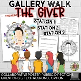THE GIVER, HERO'S JOURNEY GALLERY WALK, POSTER, RUBRIC, QUESTIONS