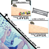 THE GIVER Unit Novel Study - Literature Guide (Print & Dig
