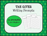 THE GIVER by Lois Lowry - Writing Prompts (1 per chapter)