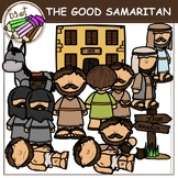 THE GOOD SAMARITAN digital clipart (color and black&white)