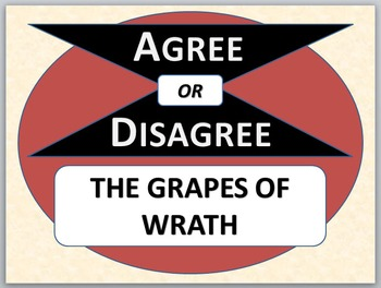 THE GRAPES OF WRATH - Agree or Disagree Pre-reading Activity
