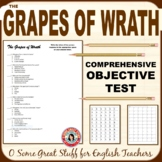 THE GRAPES OF WRATH Comprehensive Objective Test 60 Multip