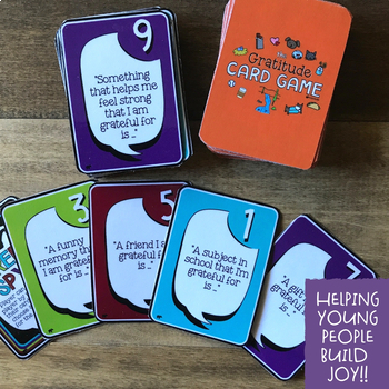 THE GRATITUDE CARD GAME!  Fun Positive Psychology School Counseling Intervention