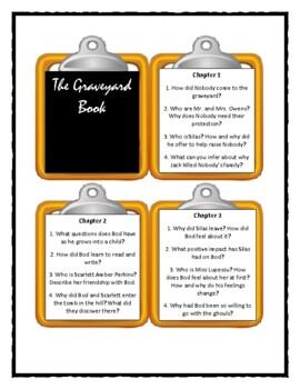 THE GRAVEYARD BOOK by Neil Gaiman * Discussion Cards