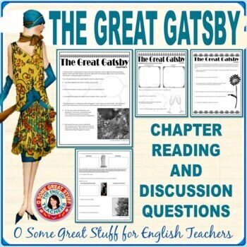 THE GREAT GATSBY Individual Chapter Activities with Keys--A Bundle