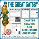 THE GREAT GATSBY Individual Chapter Activities with Keys BUNDLE