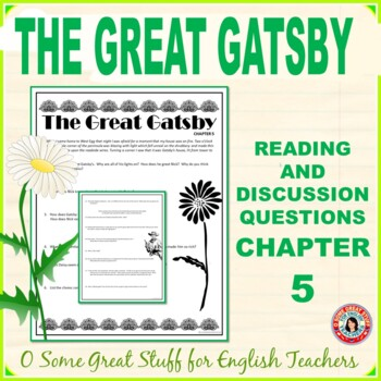 THE GREAT GATSBY  Chapter 5 Comprehension and Analysis Activities