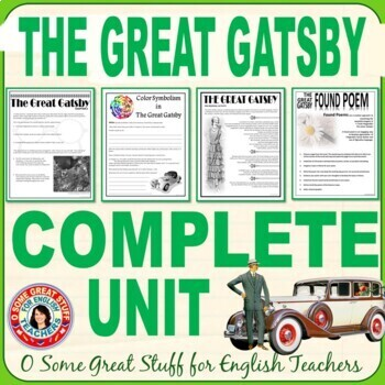THE GREAT GATSBY Complete Unit- PowerPoints, Activities, Evaluations