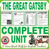 THE GREAT GATSBY Complete Unit- PowerPoints, Activities, E