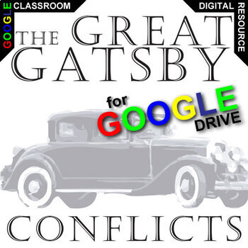 THE GREAT GATSBY Conflict Graphic Organizer (Created for Digital)