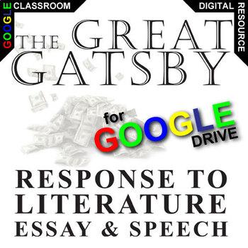 THE GREAT GATSBY Essay Prompts and Speech w Rubrics (Creat