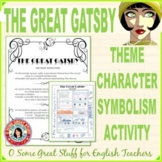 THE GREAT GATSBY Theme, Character, and Symbol Activity DIG