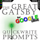 THE GREAT GATSBY Journal - Quickwrite Writing Prompts (Cre