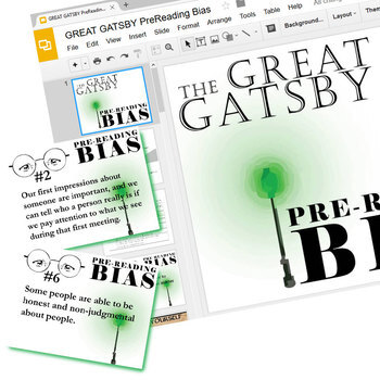 THE GREAT GATSBY PreReading Bias Activity (Created for Digital)