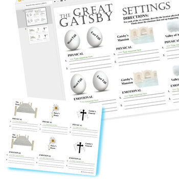 THE GREAT GATSBY Settings (Created for Digital)