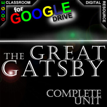 THE GREAT GATSBY Unit Novel Study Literature Guide (Created for Digital)