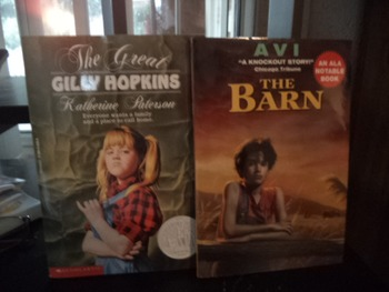 THE GREAT GILLY HOPKINS     THE BARN     (set of 2)