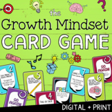 GROWTH MINDSET: Print + Digital SEL Game   Social Emotional Distance Learning