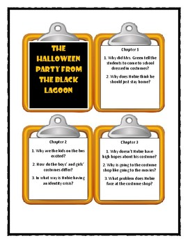 THE HALLOWEEN PARTY FROM THE BLACK LAGOON - Thaler  - Discussion Cards