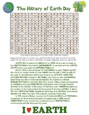 THE HISTORY OF EARTH DAY Word Search with Answer Key