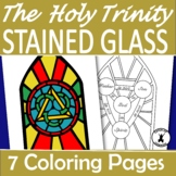 THE HOLY TRINITY Coloring Stained Glass