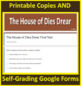 The House of Dies Drear Novel Study Print AND Google Paperless + Self-Grading