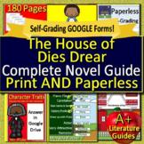 The House of Dies Drear NOVEL STUDY: Printable + SELF-GRADING GOOGLE FORMS!