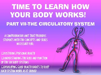 THE HUMAN BODY SYSTEMS UNIT: PART VII~THE CIRCULATORY SYSTEM