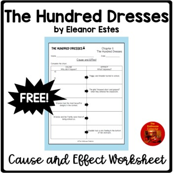 THE HUNDRED DRESSES Upper Elementary Cause & Effect Chart for Chapter 5
