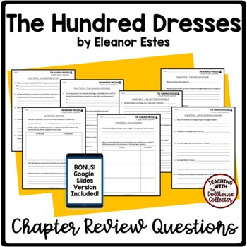 THE HUNDRED DRESSES Short-Response Chapter Review Questions for Upper Elementary